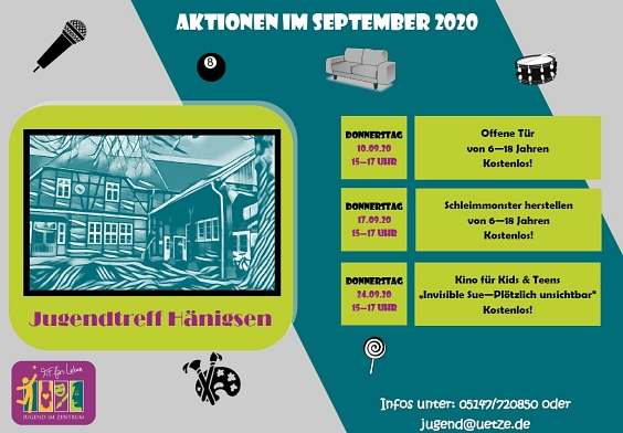 Programm September Jugendtreff